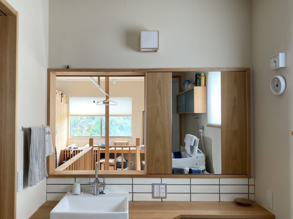 山暮らしの家 洗面所